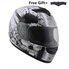 Free shipping Full Face Motorcycle Helmet Motocross Racing With Rainbow Visor Helmet Casco De Moto Capacete DOT approved Kask