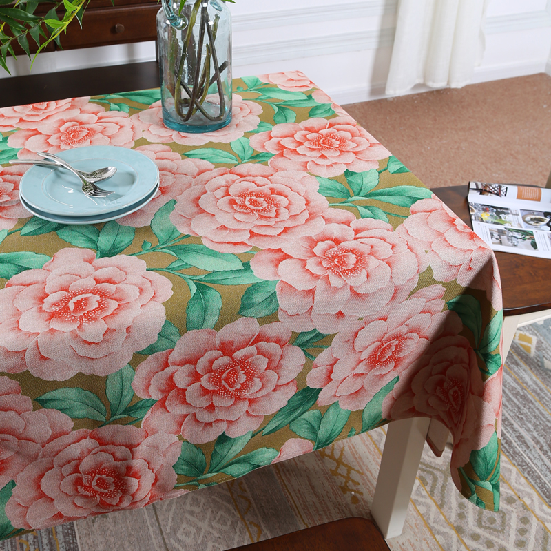 British Classical Landscape big flower 559 Linen Tablecloth Wedding Dining Table cloth Coffee Restaurant Decorative Table