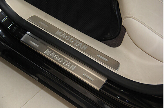 Scuff Plate/Door SiLL Trim 8pcs for VW PASSAT B6 B7 R36 2007 2008 2009 2010 2011 stainless steel scuff plate door sill cover trim fit for suzuki grand vitara 2007 2008 to 2010 2011 2012 car styling accessories