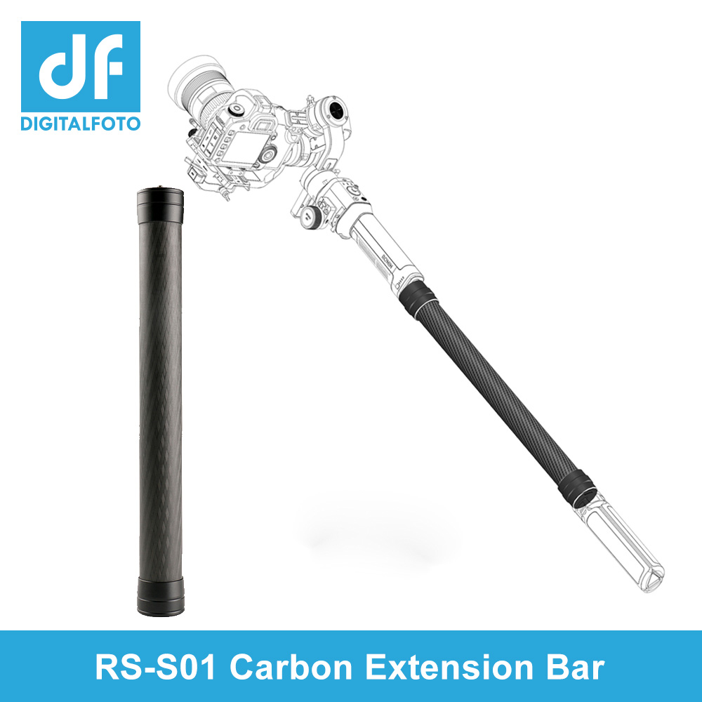Carbon Fiber Extension Stick For DJI Ronin SC/S/M WEEBILL LAB AK2000 AK4000 Moza AirX Smooth4 3 Axis Gimbal Stabilizer Rod Bars