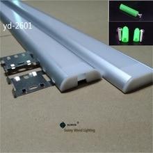 Светодиодный канал для лент 5 30 шт./лот 40 дюймов 1 м, двухрядная лента, светодиодный алюминиевый профиль для печатной платы 26 мм, прозрачная/молочная матовая крышка