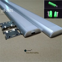 5 30pcs/lot 40inch 1m  Led channel for strips,  dual row tape led aluminium profile for 26mm pcb ,clear/milky frosted cover bar