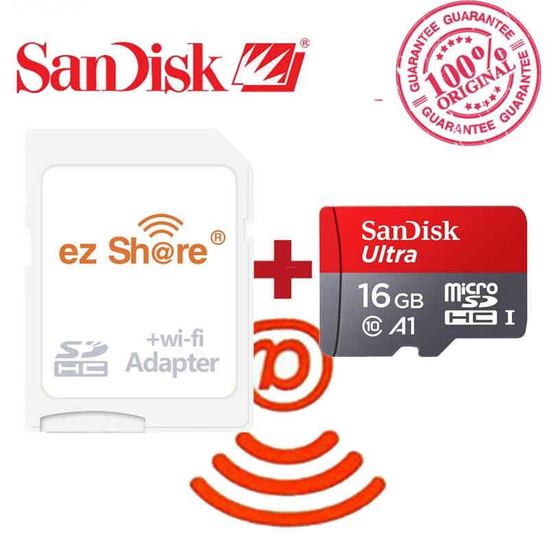 Image 4 - ezshare Wireless wifi adapter Sandisk Ultra 8GB 16gb 32gb class10   microsd wifi wireless TF Card Micro SD Card Memory Cardmemory  cardmicro sd cardtf card