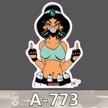 Bevle A-773 Jasmin Jasmin Wasserdichte Kühle DIY Aufkleber Für Laptop Gepäck Bike Refit Skateboard Auto Graffiti Cartoon Aufkleber