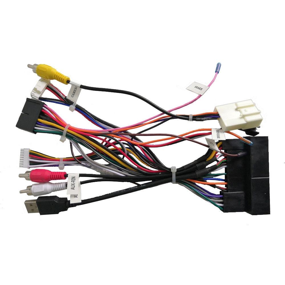 Power Adapter Wiring Harness for Klyde KIA K2 K3 K5 K7 RIO Sorents Sportage/Hyundai IX35 IX45 Tucson Elantra SANTA FE Car Radio
