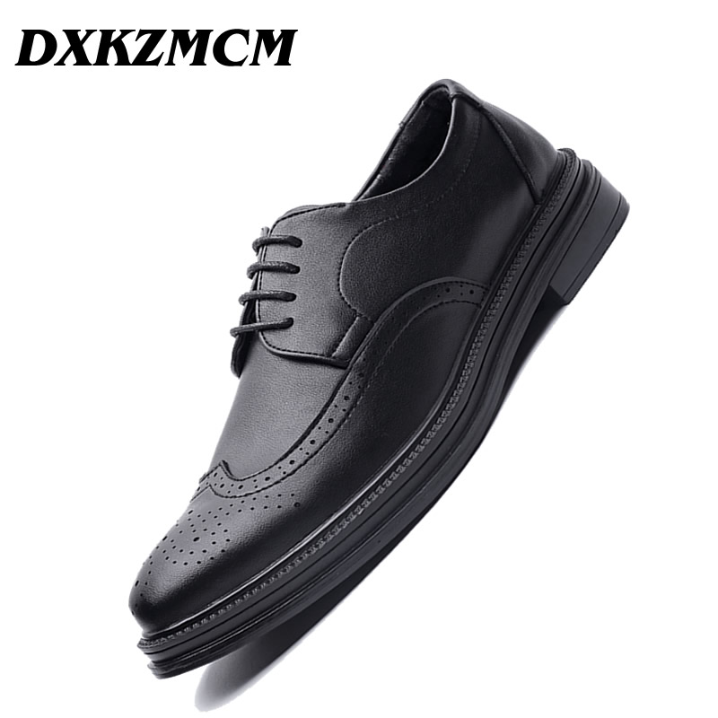 DXKZMCM Men Dress Shoes Top Quality Men Oxford Shoes Lace-up Brand Men Formal Shoes Men Leather Wedding Shoes mycolen men dress shoes simple style quality men oxford shoes lace up brand men formal shoes men leather wedding shoes