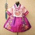 Изысканный Узор Корейских Детей Платье Принцессы Платье Этнический Кореец Фотографии Одежды Девушки Танцуют Носить Ханбок