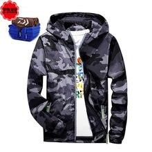 06212d9d3 Pesca ropa impermeable y transpirable hombres chaqueta invierno de secado  rápido Pesca camisa manga larga con capucha al aire li.