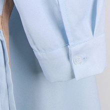 [TWOTWINSTYLE] 2017 Spring New Patchwork Pleated Korean Long Sleeves Loose Shirt Women Dress Fashion Clothing