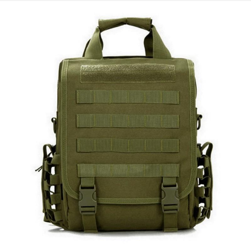 Laptop Backpack Rucksack Tactical Shoulder Messenger Bag Green ACU Molle Design