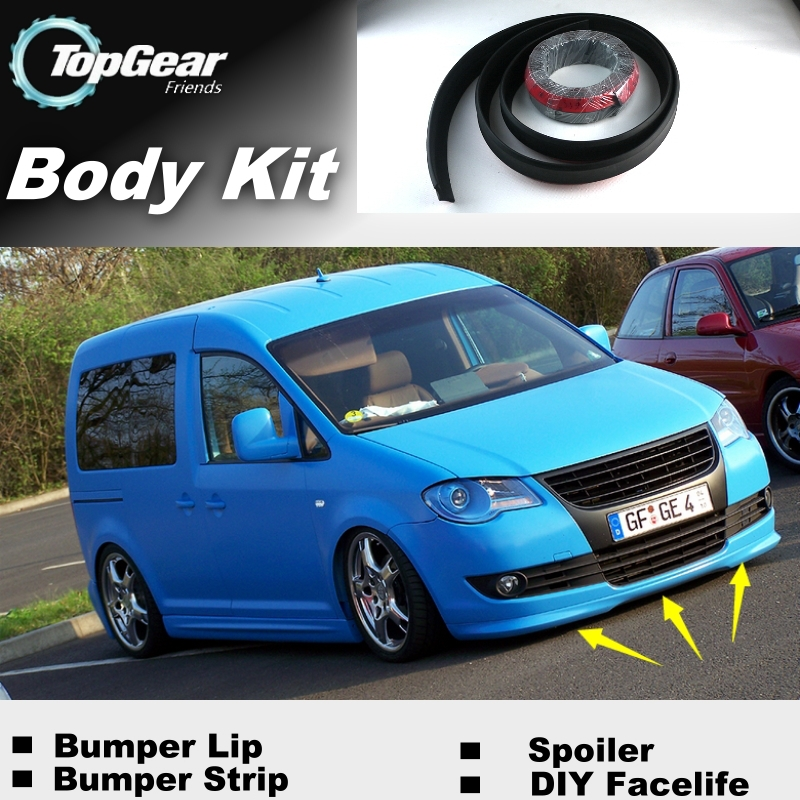 Bumper Lip Deflector Lips For Volkswagen VW Caddy 2K 2004~2015 Front Spoiler Skirt For TG Fans to Tuning View / Body Kit / Strip
