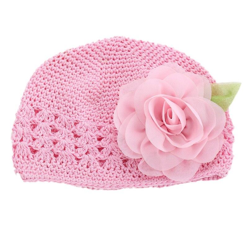 2016 Neue Blume Mädchen Baby Hut Häkeln Handmade Fotografie Requisiten Mädchen Hüte, Gestrickte Nette Neugeborene Winter Hut, Solide Baby Mädchen Kappe
