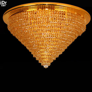 Image 1 - European gold golden circular living room lamp bedroom lamp hall lights corridor lights Ceiling Lights Lmy 0147