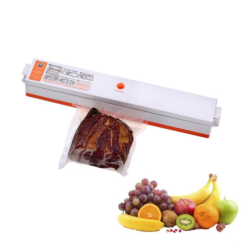 Adoolla Household Fully Automatic Vacuum Food Sealer Plastic Bag Sealing Machine Food Saver Vacuum Sealing System jiqi 100w portable pro smart mini food automatic sealing machine one button vacuum sealer for seal pack opp pe plastic bag