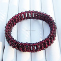 100% Natural Jade Garnet Bracelet Men And Women Bracelets Random Shapes Beads Bracelet best gife for Lovers&mom Jewelry Bracelet
