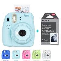 Fujifilm Instax Mini 9 Camera 5 Colors 10 Shots Fuji Mini 9 Instant Film Monochrome Photo