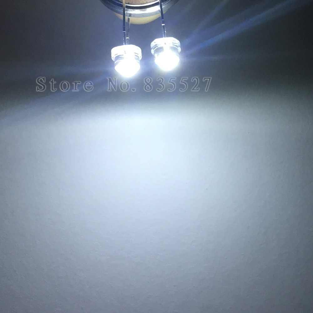 """100 יח'\חבילה 5 מ""""מ F5 לבן 1600-2000MCD חרוזים מנורת כובע קש LED סופר מבריק LED פולטות אור דיודות (leds) לאורות DIY"""