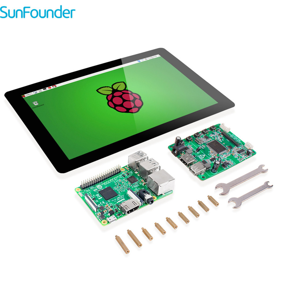SunFounder 10.1 IPS LCD Seen Display Monitor HDMI 1280*800 with Raspberry Pi 3 & TF Card for Raspberry Pi 3 2 Model B & RPi 1 B+ 3 5 inch touch screen tft lcd 320 480 designed for raspberry pi rpi 2
