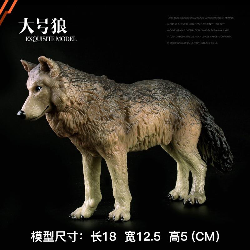 Original wild life zoo animal model Big Steppe Wolf