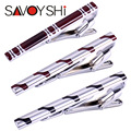 SAVOYSHI Brand Fashion Man's Classic simple Tie clips silver metal Necktie clip for men wedding&Business Free Shipping Wholesale