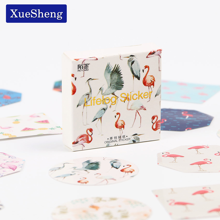 90PCS/2sets Animal Diary Stickers Pack Post it Kawaii Planner Scrapbooking Sticky Stationery Escolar New School Supplies 45pcs lot cute petal decorative diy diary stickers post it kawaii planner scrapbooking sticky stationery escolar school supplies