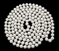 Hot sale new Style >>>>>48'' Long Natural White 8mm Real South Sea Shell Pearl Beads Necklace Jewelry