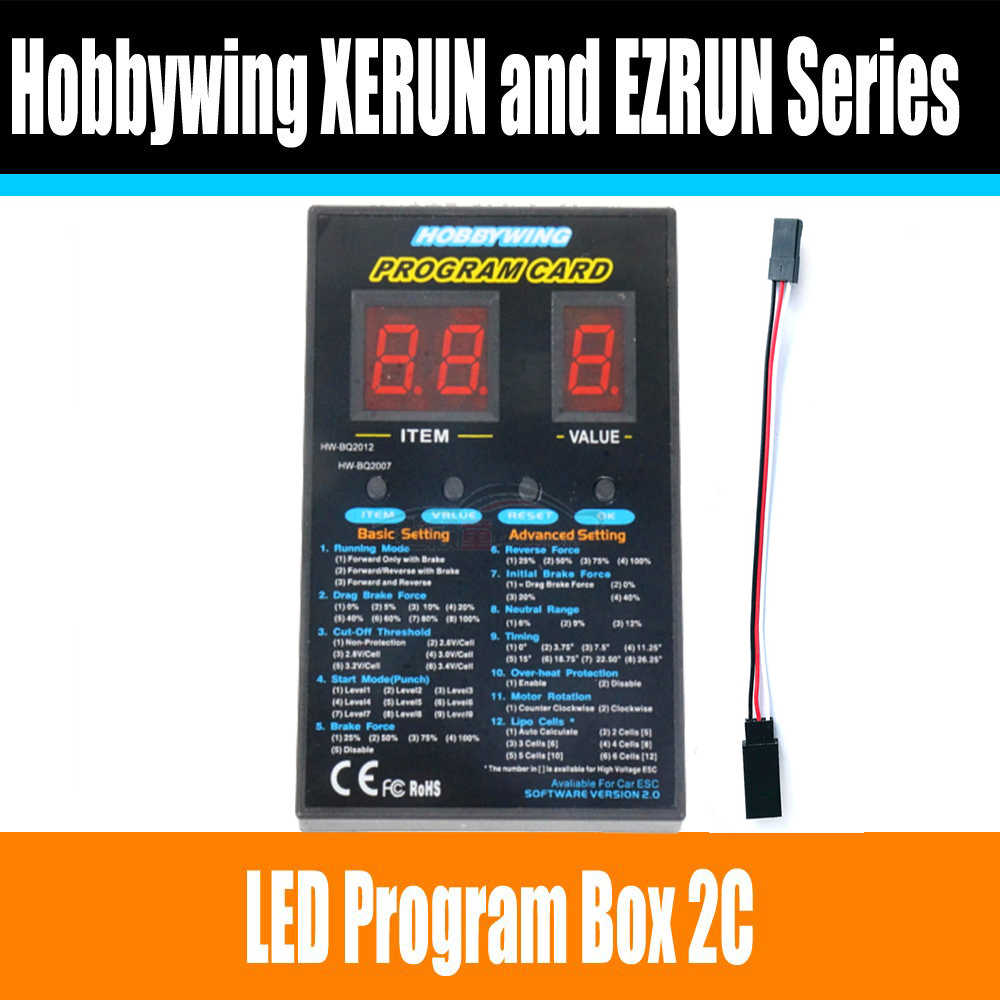 Hobbywing RC Car Program Card LED Program Box 2C 86020010 Programm Card For Hobbywing XERUN and EZRUN Series Car Brushless ESC