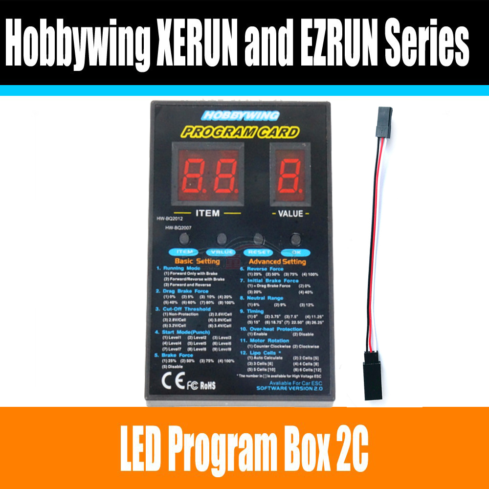 Hobbywing RC Car Program Card LED Program Box 2C 86020010 Programm Card For XERUN And EZRUN Series Car Brushless ESC