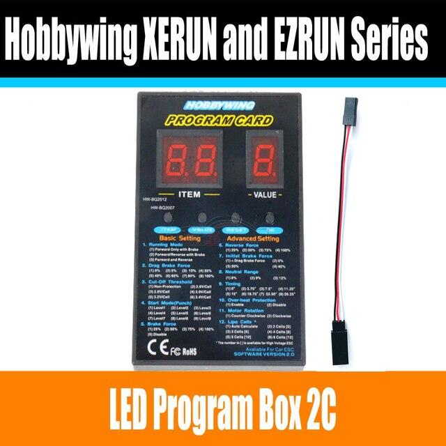 Hobbywing RC coche programa Tarjeta LED caja de programa 2C 86020010 Tarjeta de programa para XERUN y serie EZRUN coche sin escobillas ESC