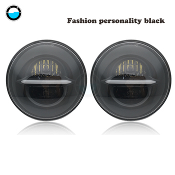 For Jeep Wrangler Led Headlight 7inch Round High Low Beam Yellow Turn Signal For Lada 4x4 urban Niva suzuki samurai