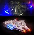 LLEVÓ kit de luz (sólo la luz incluido) para lego 10467 y lepin 05007 star wars halcón milenario modelo nave espacial (no incluir)