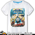 Cotton short sleeve children t shirts, cute cartoon,game boys girls kids wear Thomas and his friends train
