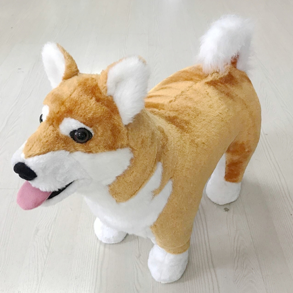 Fancytrader Pop Emulated Animal Shiba Inu Plush Toy Stuffed Realistic Dog Can Ride on the Back Kids Gift Decoration DollFancytrader Pop Emulated Animal Shiba Inu Plush Toy Stuffed Realistic Dog Can Ride on the Back Kids Gift Decoration Doll