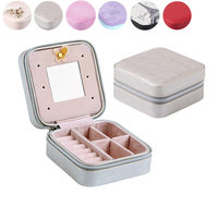 Fashion Delicate Jewelries Boxes Leather Ornaments Case Earrings Bracelet Ring Necklace Storage Box Jewelry Display Rack