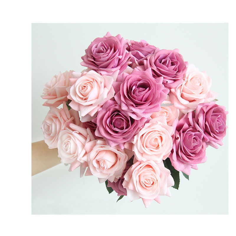 YO CHO Wedding Bouquet High Quality Bridesmaid Rose Bouquet Real Touch Artificial Silk Flower Wedding Supplies Home Office Decor