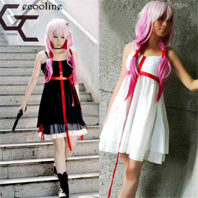 Anime Guilty Crown Yuzuriha Inori Cospaly Costume Gothic Lolita Dress White/Black Red Cross Halloween & Anime Guilty Crown Yuzuriha Inori Cospaly Costume Gothic Lolita ...
