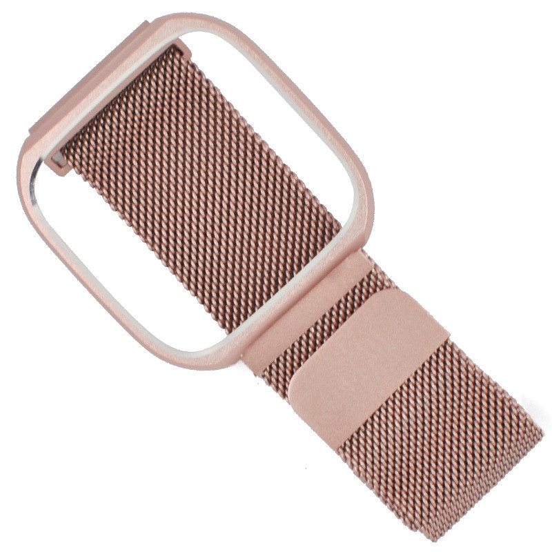 Suitable for Fitbit Versa Stainless Steel Magnetic Milanese Metal Strap with Frame