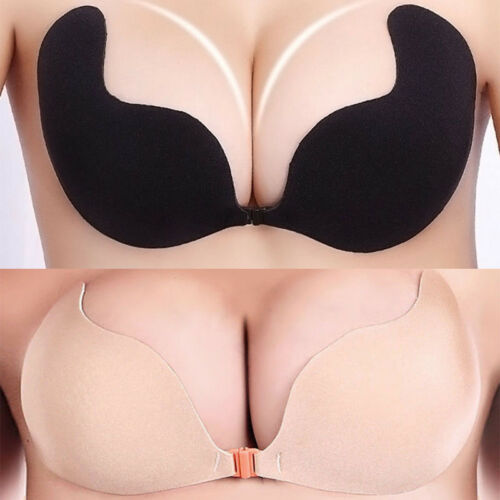 New Women Ladies Silicone Self Adhesive Seamless Wire Free Bras Magic Push Up Strapless Invisible Bras Backless Intimate Bras