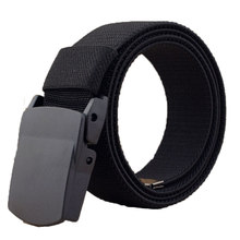Casual 1.5'' Wide Canvas Breathable Belt, Plastic Press Buckle Belt, Men's Elastic Belts High Quality, Belt Size up to 60''(China)
