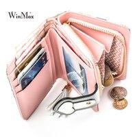 WinmaxPretty Lady Snap Fastener Short Clutch Wallet Vintage Matte Women Wallet Fashion Small Female Purse Short
