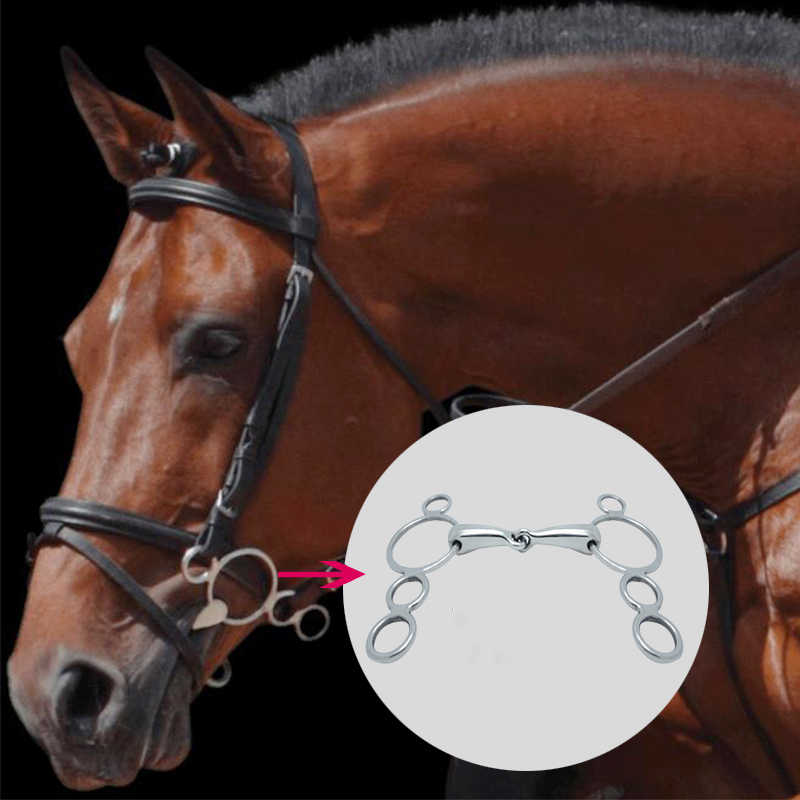 Stainless Steel Armature Mouth H Shape 125mm 135mm Horse Bit Riding Control Horse For Obstacle Competition Equestrian Equipment