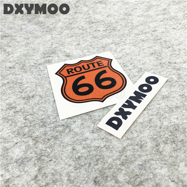 2pcs united states highway car vinyl stickers route 66 oil tank window motorcycle decal bumpers 6 7