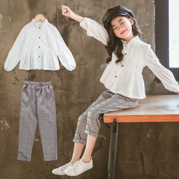 Girls Clothing Sets Suit For Girls Outfits Tops Blouse + Pants Stylish Gentle Teenager Girl Clothes Teen Korean Spring Fashion 1