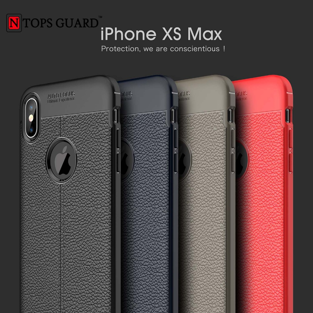 Auto Focus Case For iPhone X Case Business Leather Silicone Soft TPU Cases For iPhone XR