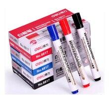 Получить скидку Бесплатная доставка стираемую Маркеры для доски ручка 10 шт. Доски сухого стирания маркеры цвета — красный, синий, черный офиса/J001