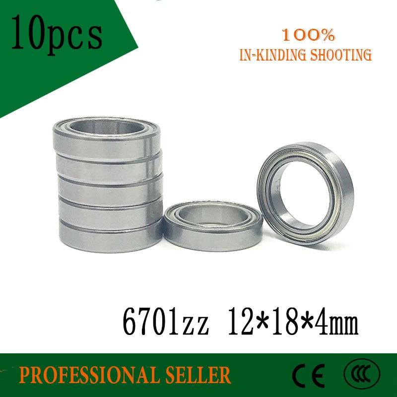 10pcs 6701ZZ Bearing ABEC-1  12x18x4 Mm Thin Wall Section 6701 ZZ Ball Bearings 61701ZZ 6701Z
