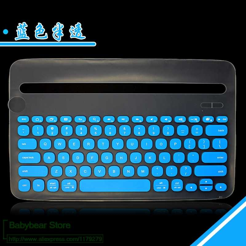 Keyboard Mechanical For Logitech K380 Multi-Device Bluetooth Silicone Cover Skin Protector Keyboard Protective Film
