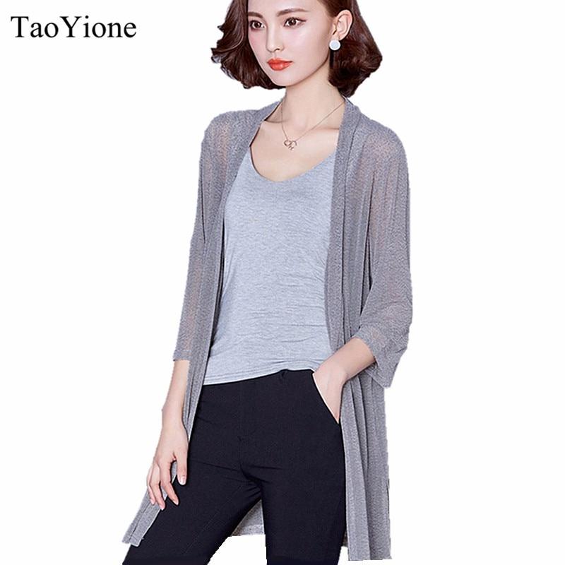 2016 Summer Kimono Cardigan Women Loose Long Blouses Shirt
