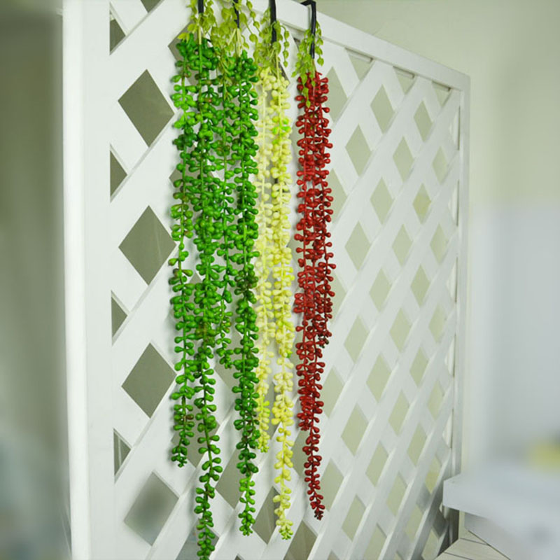 Artificial Decorations Festive & Party Supplies 70cm Artificial Fleshiness Lover Tears Succulents Pearls Fleshy Vine Flower Hanging Rattan Wall Garden Decor Plants Flower Special Summer Sale