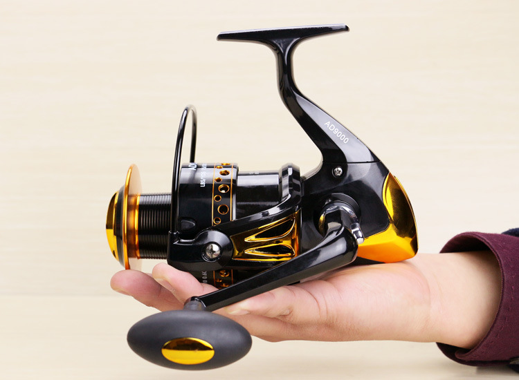 New hot 8000 9000 Big angeln reel vissen distant wheel 12BB metal wire cup carp telescopic saltwater spinning fishing reels fish risn fh spinning reel 8000 9000 series 15 bbs full metal base distant wheel sea fishing wheel anchor fish wheel fish line wheel